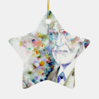 SIGMUND FREUD - watercolor portrait.2 Ceramic Ornament