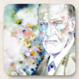SIGMUND FREUD - watercolor portrait.2 Coaster