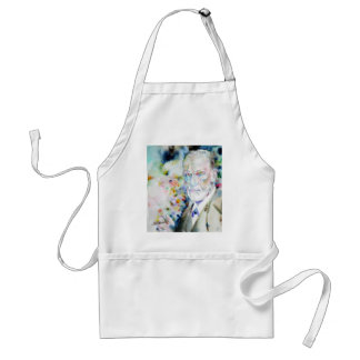 SIGMUND FREUD - watercolor portrait.2 Standard Apron