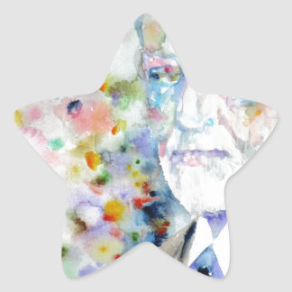 SIGMUND FREUD - watercolor portrait.2 Star Sticker