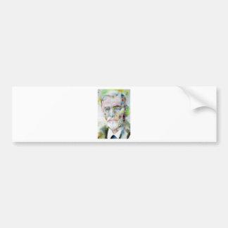 sigmund freud - watercolor portrait.3 bumper sticker