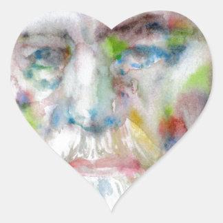 sigmund freud - watercolor portrait.3 heart sticker