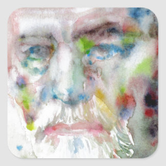 sigmund freud - watercolor portrait.3 square sticker