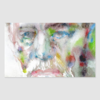 sigmund freud - watercolor portrait.3 sticker