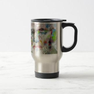 sigmund freud - watercolor portrait.3 travel mug