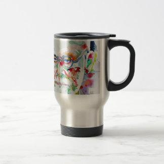sigmund freud - watercolor portrait .6 travel mug