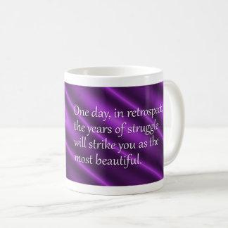 Sigmund Freud Years of Struggle Quote Coffee Mug