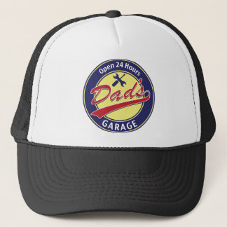 "Sign ""Dad's Garage"" with editable text Trucker Hat"
