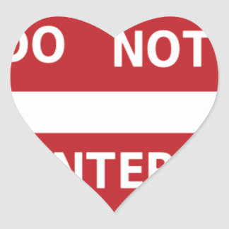 sign Do not enter Heart Sticker