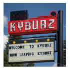 Sign for Kyburz, California