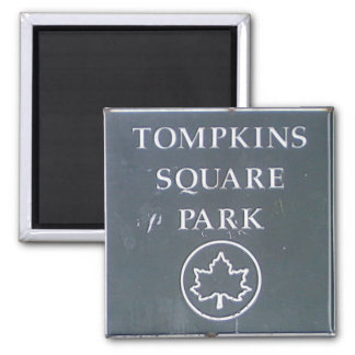 Sign from Tompkins Square Park New York City Magnet