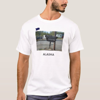 Sign in downtown Talkeetna Alaska t-shirt
