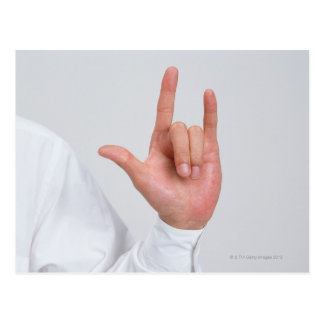 Sign Language 5 Postcard