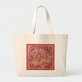 Sign Language Alphabet2 Large Tote Bag