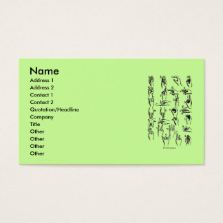 Sign Language Alphabet Business Card