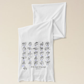 SIGN LANGUAGE ALPHABET scarf