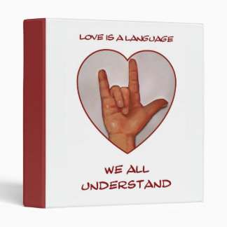 SIGN LANGUAGE BINDER: American Sign Language Binders