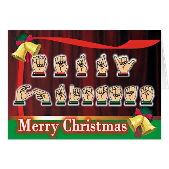 Sign Language Christmas Card