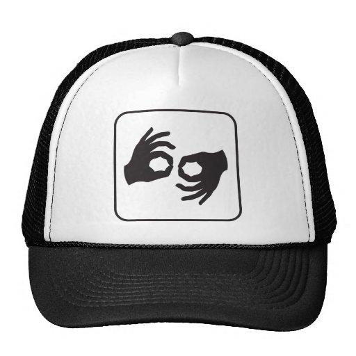 Sign Language Mesh Hat