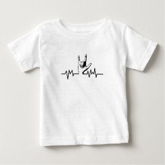 Sign language heart beat Love Sign Language Baby T-Shirt