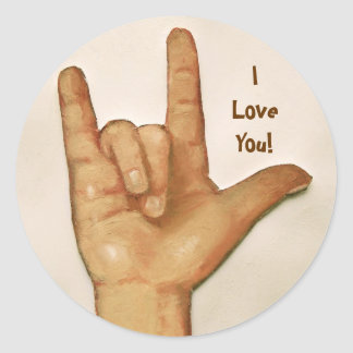 SIGN LANGUAGE: I LOVE YOU: STICKERS