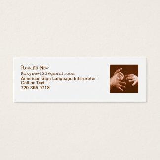 Sign Language Interpreter Mini Business Card