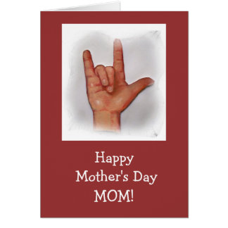 SIGN LANGUAGE MOTHER'S DAY CARD
