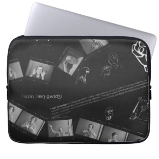 Sign Language Photogram Laptop Sleeve