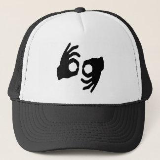 sign language trucker hat