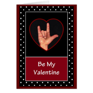 SIGN LANGUAGE: VALENTINE CARD
