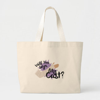 Sign My Cast Large Tote Bag