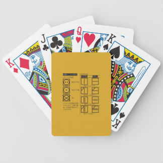 Sign of manner of drying bicycle playing cards