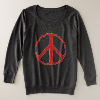 Sign of Peace Plus Size Sweatshirt