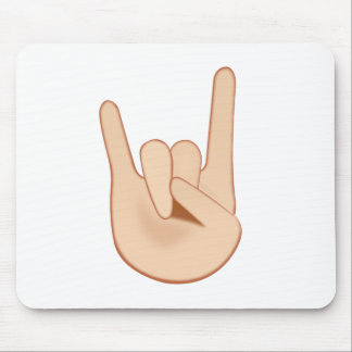 Sign of the Horns Emoji Mouse Pad
