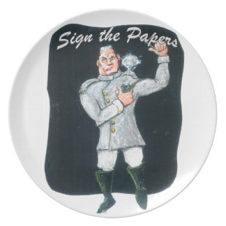 Sign the Papers Plate