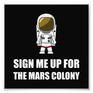 Sign Up Mars Colony