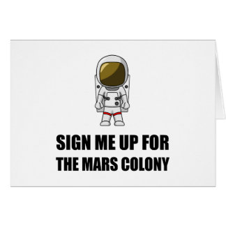 Sign Up Mars Colony Card