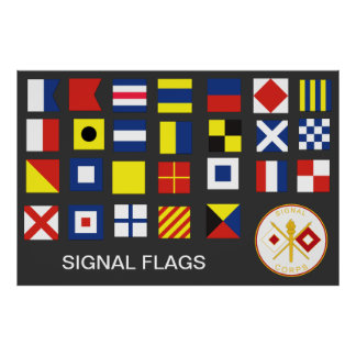 Signal Corps Flags (A-Z) Poster