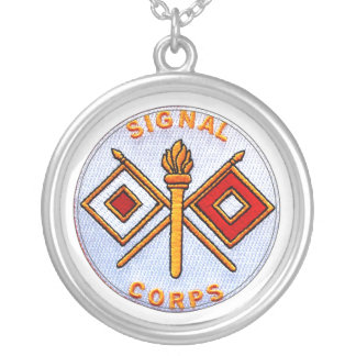 Signal Corps Silver Plated Necklace