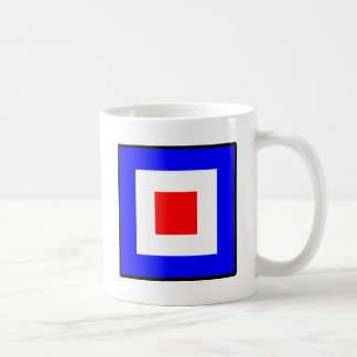 "Signal Flag ""W"" whisky Coffee Mug"