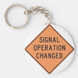 Signal Operation Changed Keychain