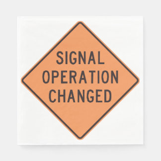 Signal Operation Changed Paper Napkins