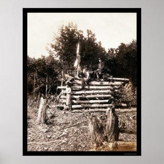 Signal Tower at the Antietam Battlefield 1862 Poster