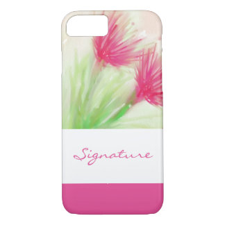 SIGNATURE ART | watercolor flowers painting iPhone 7 Case