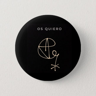 SIGNATURE DE ALFRED ANOTHER! 2 INCH ROUND BUTTON