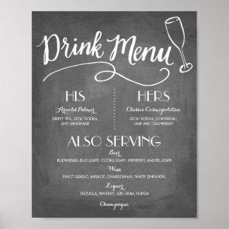 Signature Drink Menu | Wedding Decor Poster