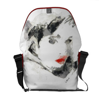 Signature Kiss of woman Messenger Bag