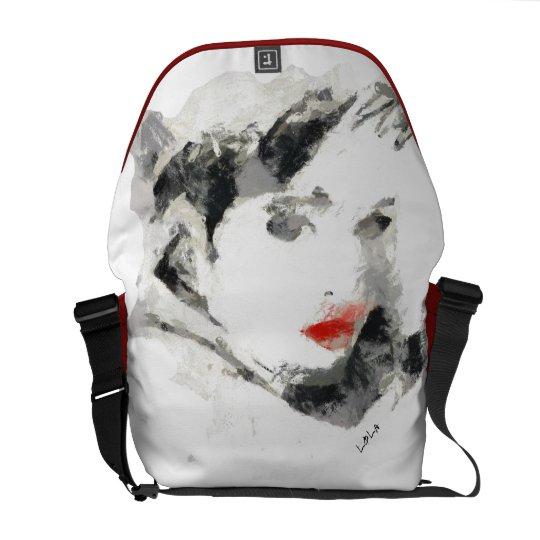 Signature Kiss of woman Messenger Bag