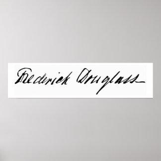 Signature of Abolitionist Frederick Douglass Poster