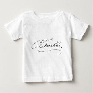 Signature of Founding Father Benjamin Franklin Baby T-Shirt